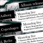 Monolog album release tour Denmark and Berlin
